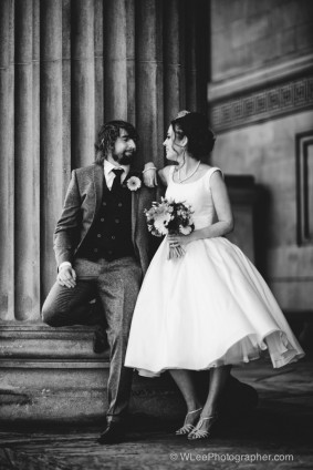 Bride and groom at St. George's Hall